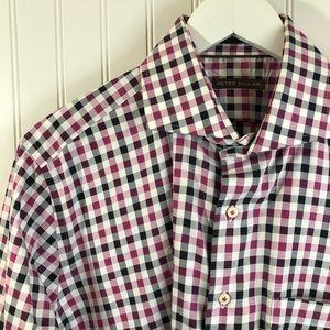 Peter Millar Long Sleeve Striped Dress Shirt L